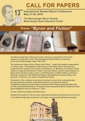 Call for Papers: 13th International Student Byron Conference